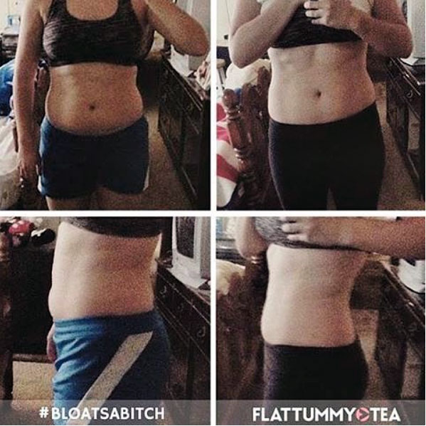 Flat Tummy Tea before after