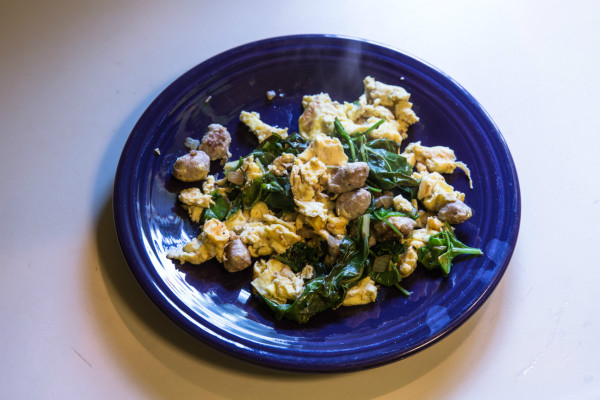 Slow-Carb Scrambled Eggs