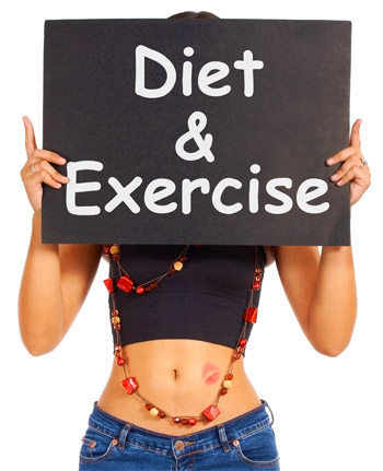 Diet and exercise for weight loss