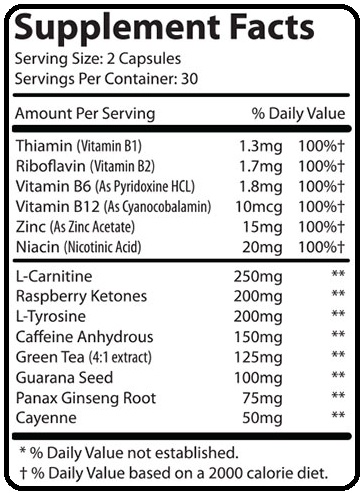 phentaslim supplement facts